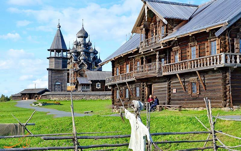 زندگی روستایی اطراف کلیساهای چوبی جزیره کیژی