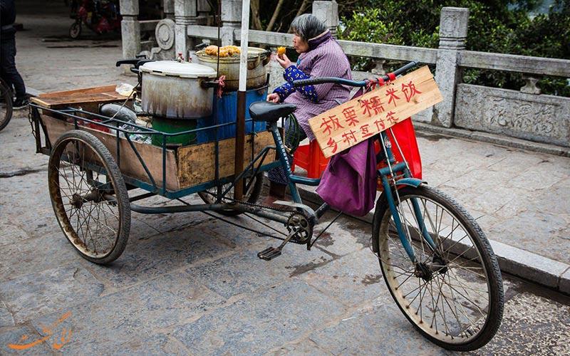 غذاهای خیابانی در شهر یانگشو چین