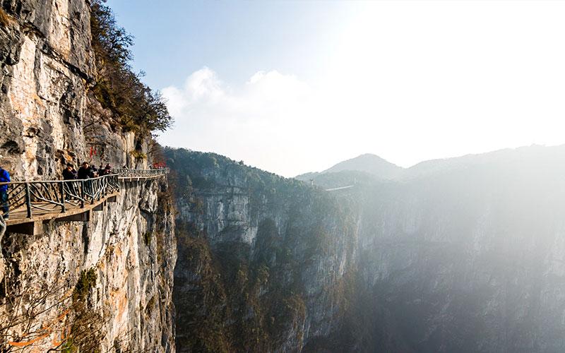مسیر-دلهره آور-پارک ملی تیانمن چین