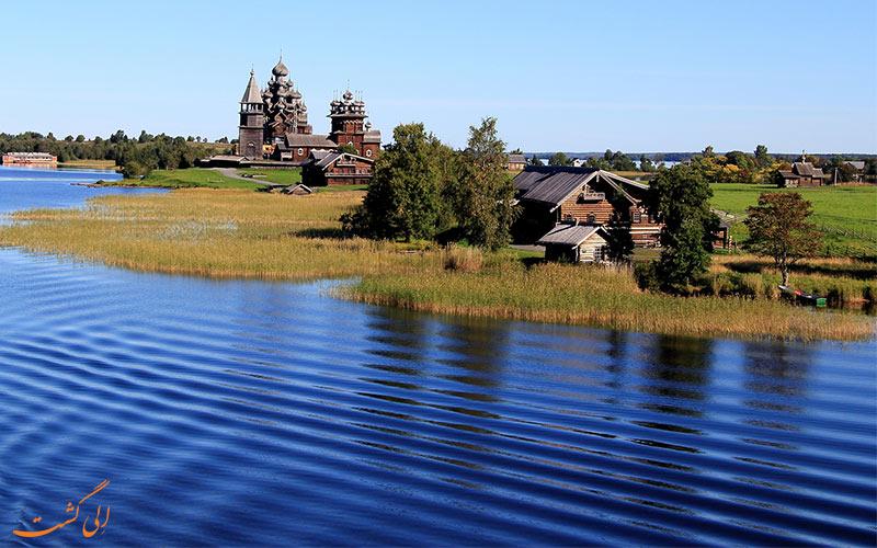 موقعیت کلیساهای چوبی جزیره کیژی