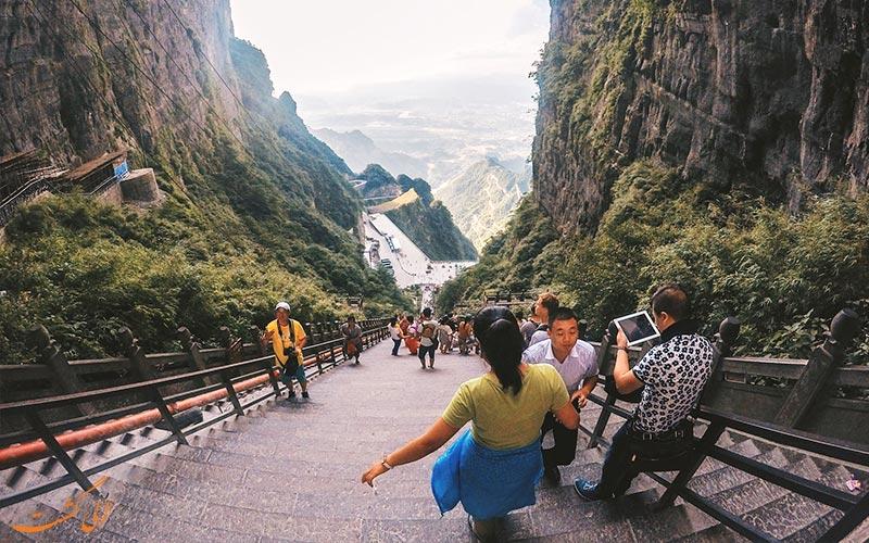 نمای-بالایی-دروازه-بهشتی-پارک ملی تیانمن چین
