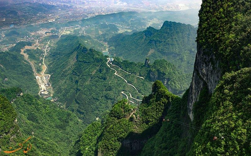 نمای سرسبز پارک ملی تیانمن چین