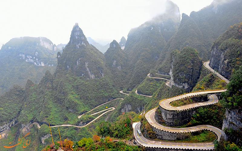 جاده منتهی به پارک ملی تیانمن چین