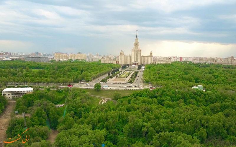 نمای پانورامیک تپه های گنجشک مسکو