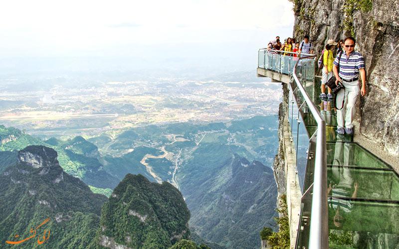 پل-شیشه-ای-پارک ملی تیانمن چین