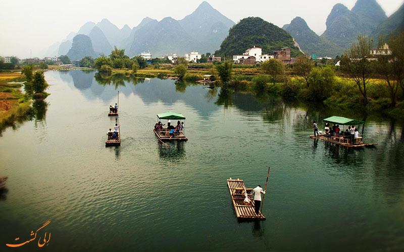 کروز رودخانه لی در شهر یانگشو چین