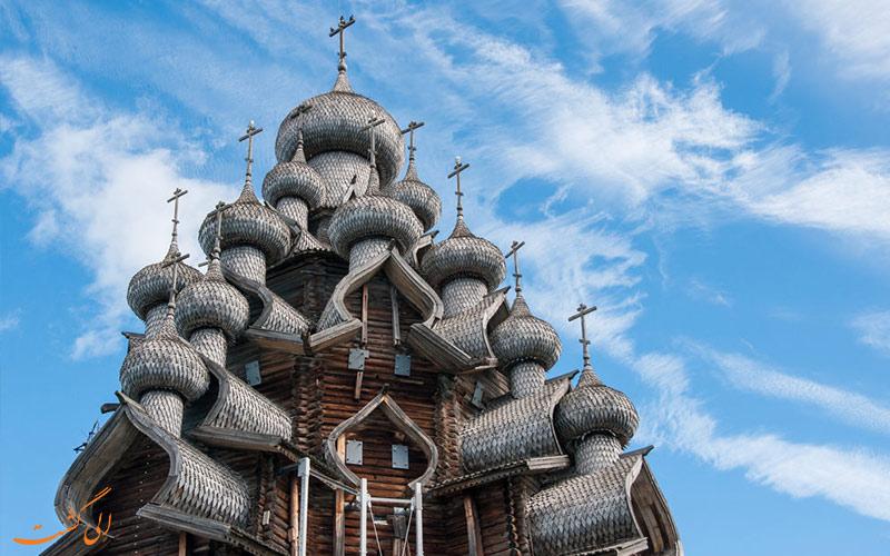 گنبدهای کلیساهای چوبی جزیره کیژی