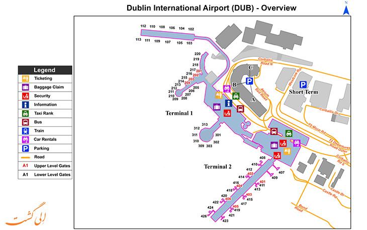 خدمات و امکانات فرودگاه دوبلین ایرلند