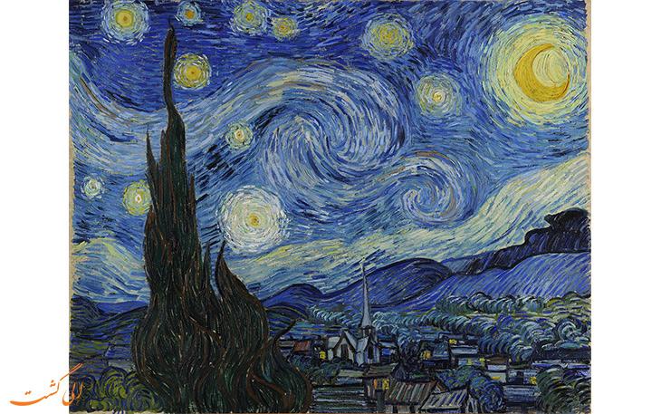 تابلئی نقاشی شب پر ستاره