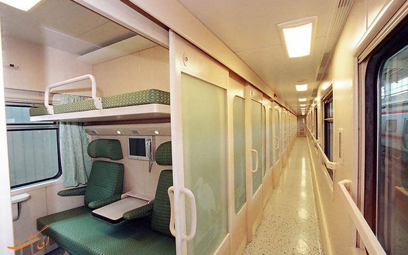 قیمت بلیط قطار امید رجا از قطارهای 4 ستاره