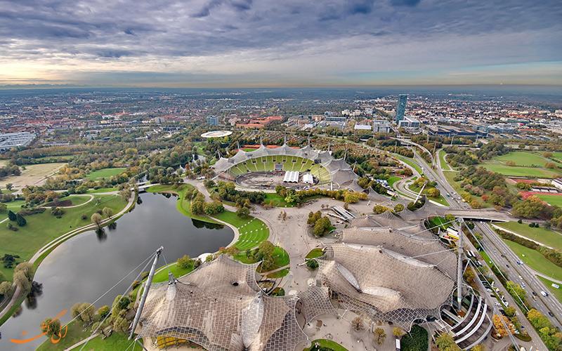 استادیوم المپیک در شهر مونیخ