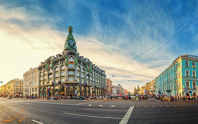 خیابان نوسکی پراسپکت در سنت پترزبورگ