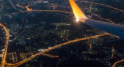 تصاویر هوایی از شهرها ، منظره ای بی نظیر از درون هواپیما