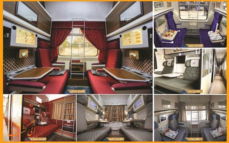 امکانات قطارهای 4 تخته رجا مانند قطار سیمرغ رجا