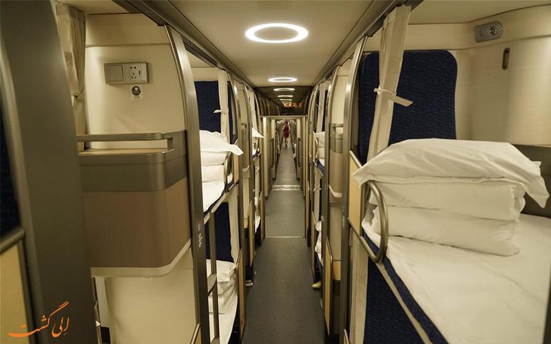 امکانات درون قطارها در سفر پکن به شانگهای