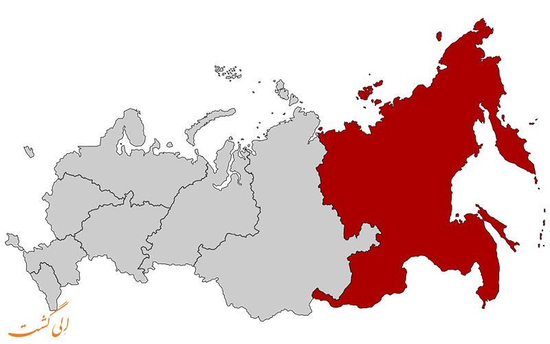 ایالت-دور-شرقی-نقشه کامل روسیه