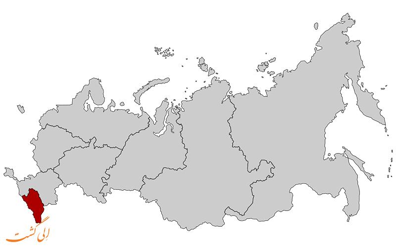 ایالت-قفقاز-شمالی-نقشه کامل روسیه