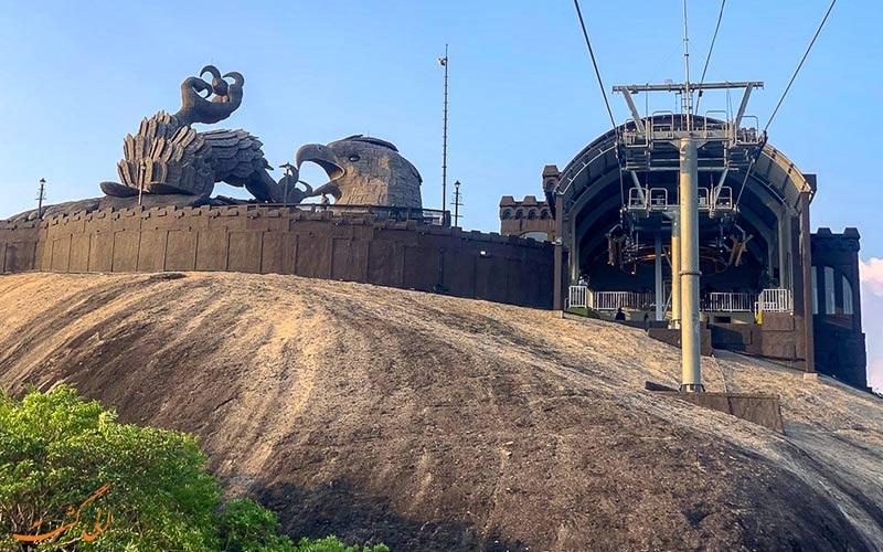 بزرگترین مجسمه پرنده جهان-تله کابین