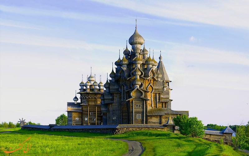 کلیسای جزیره کیژی از دیدنی های روسیه