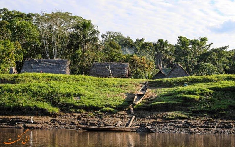 خانه-های-سنتی-اطراف-آمازون-در-پرو