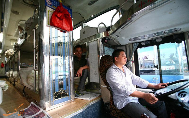 درون اتوبوس های مسافت طولانی در سفر پکن به شانگهای