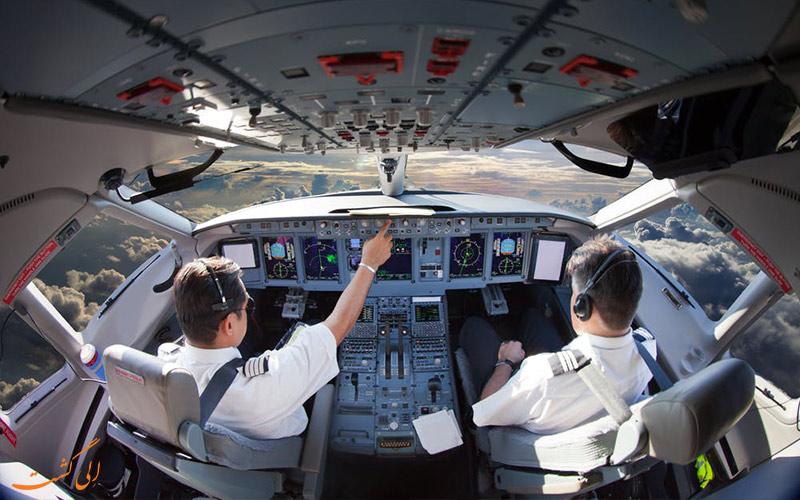دوره زمانی پروازها و ساعات کاری خلبان ها