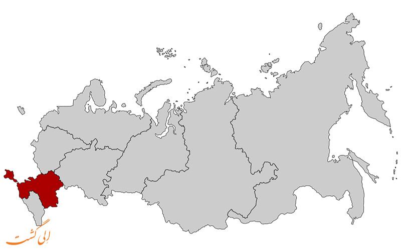 فدرال-جنوبی-نقشه کامل روسیه