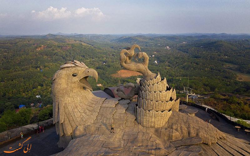 مجسمه معروف پرنده جاتایو-بزرگترین مجسمه پرنده جهان
