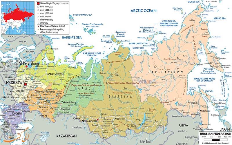 مکان-شهرها-و-ایالت-ها-در-نقشه-کامل-روسیه