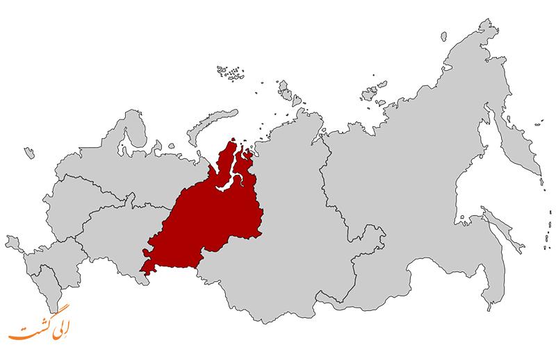 ناحیه-فدرالی-اورال-نقشه کامل روسیه