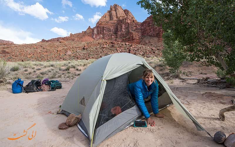 چادر مسافرتی از وسایل مهم سفر