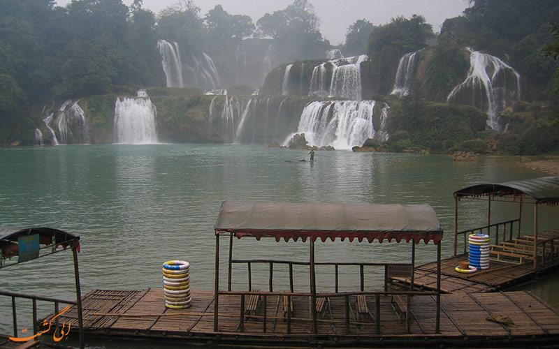 آبشارهای دیتین و بن گیوک   Ban Gioc detian falls