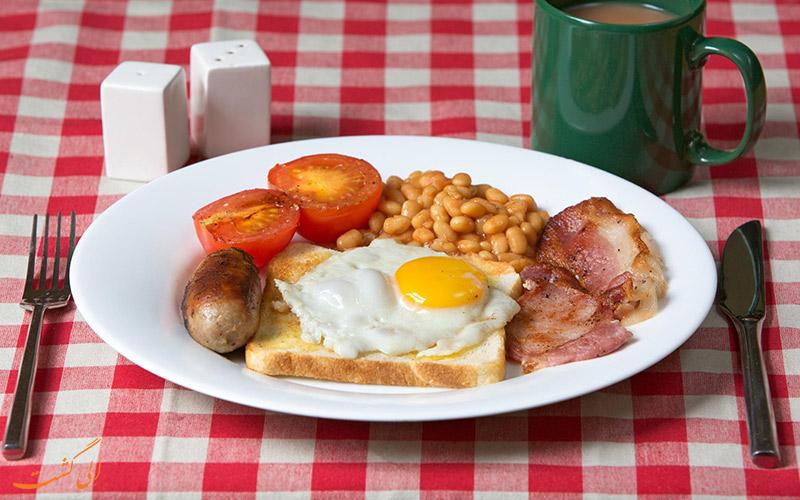 میز صبحانه به سبک انگلیسی
