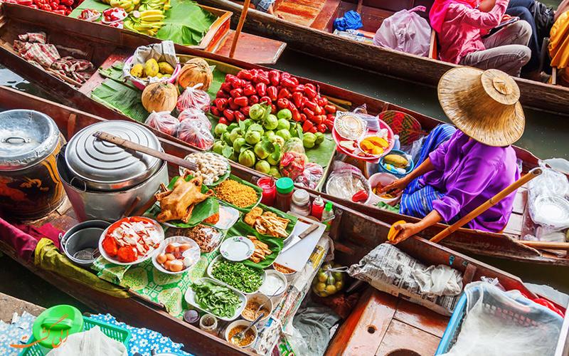بازار شناور در تایلند