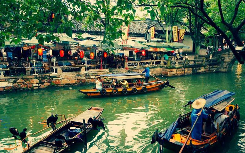 تونگلی از شهرهای آبی چین