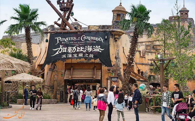 جزیره ماجراجویی و دزدان دریایی پارک دیزنی لند شانگهای