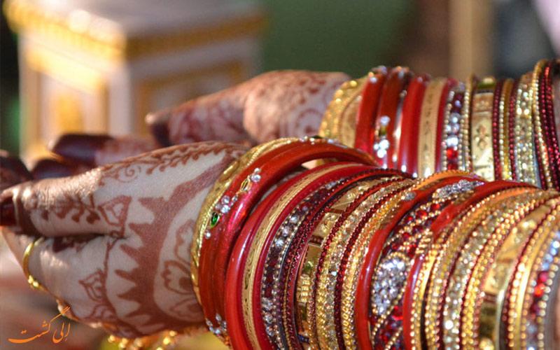 خصوصیات اخلاقی مردم هند-حنا گذاری در مراسم عروسی