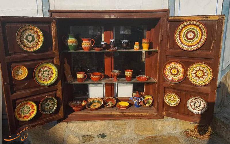 سفال های سنتی سوغاتی های وارنا