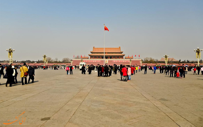 میدان-تیان-آنمن از جاذبه های گردشگری پکن