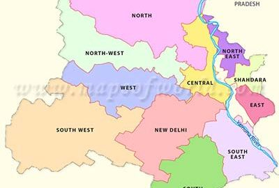 نقشه شهر دهلی