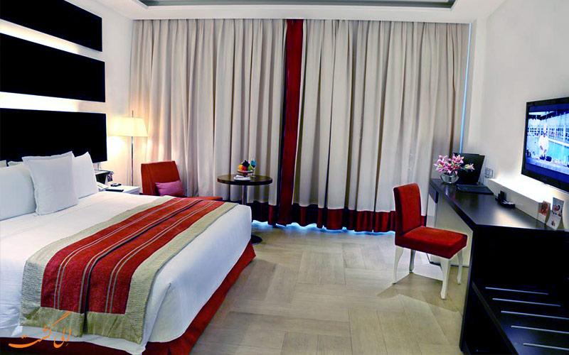یکی از اتاق های هتل ولکام دوارکا دهلی نو