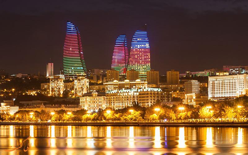 بلندترین برج های شهر باکو در آذربایجان