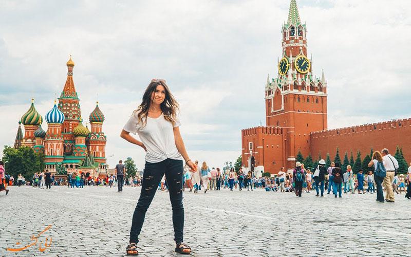 گردشگران در فصل تابستان در مسکو