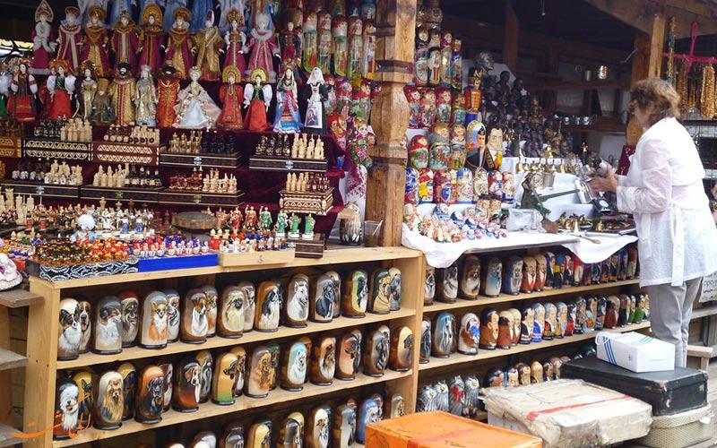 سوغاتی ارزان می خواهید؟ به بازار سنتی ایزمایلوفسکی مسکو بروید!
