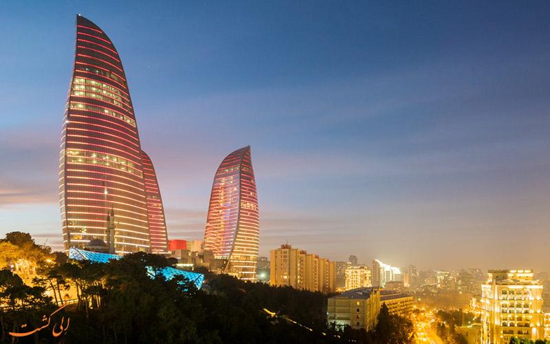 برج های شعله باکو | Flame Towers in Baku