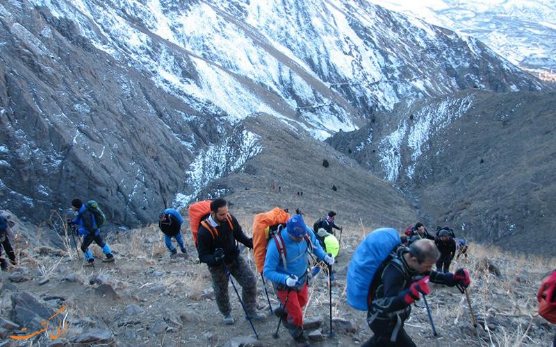 کوهنوردی در روستای کلوگان