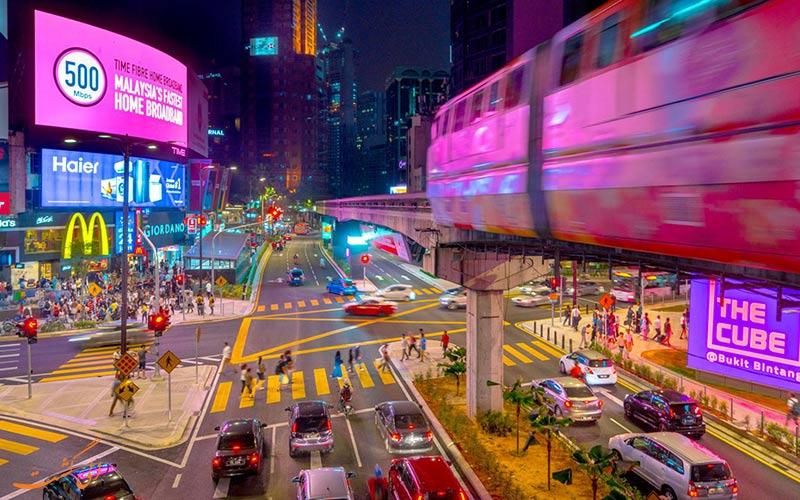 کوالالامپور در شب