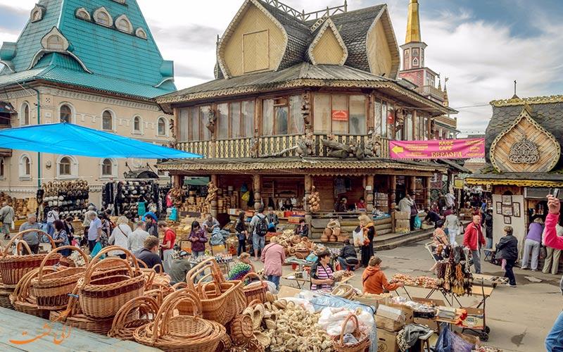 بازار سنتی ایزمایلوفسکی مسکو   Izmailovsky Market Moscow