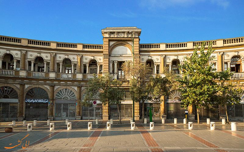 معماری میدان حسن آباد تهران