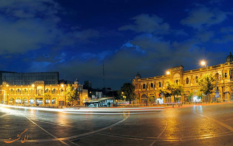 نمای کلی از میدان حسن آباد